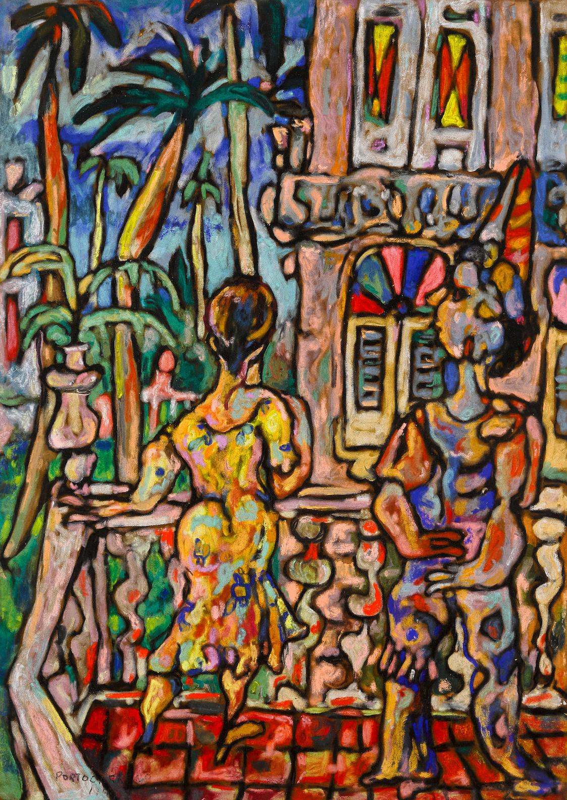 Rene Portocarrero-Dos Mujeres En Unbalcon-1947