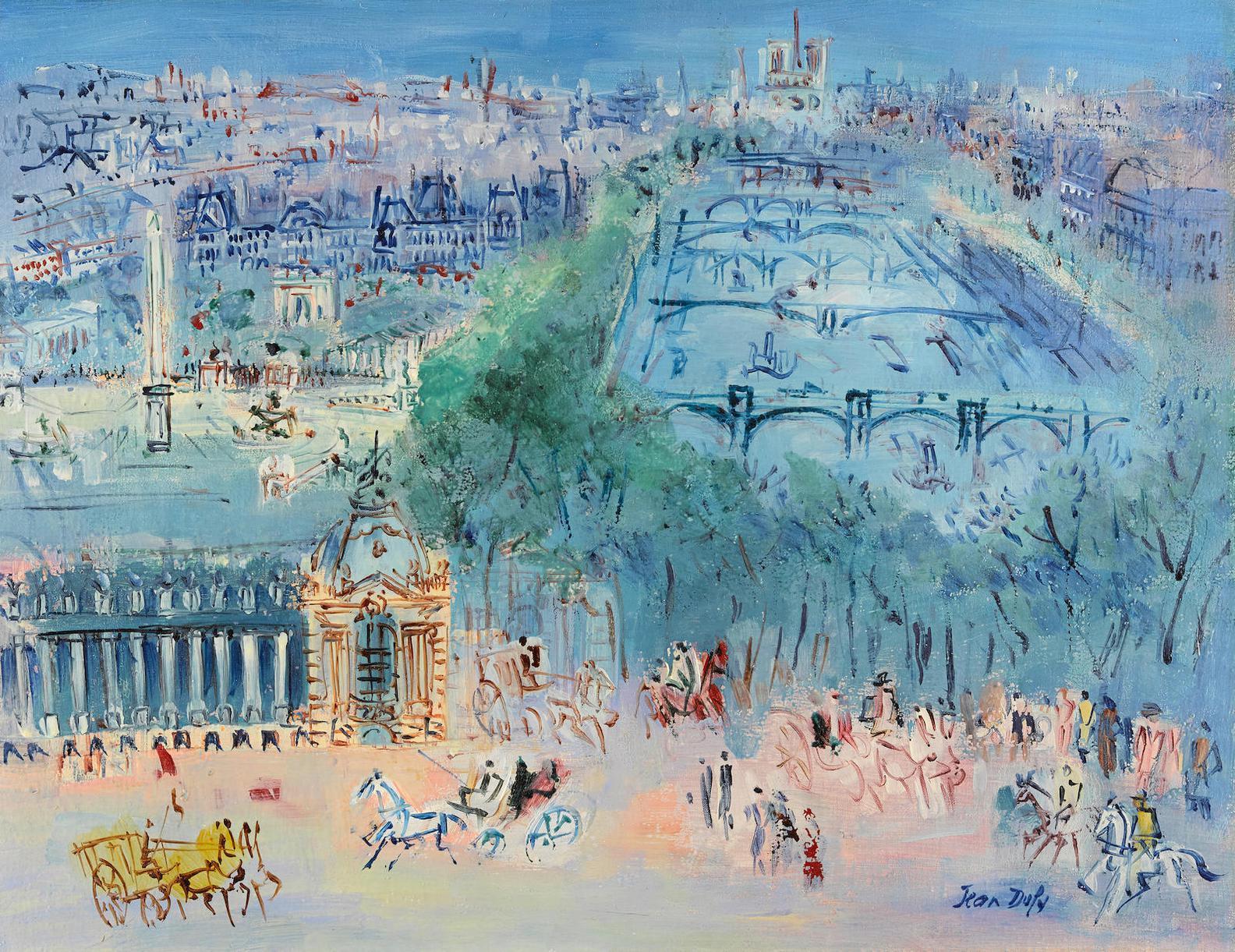 Jean Dufy-La Seine Et Le Petit Palais-