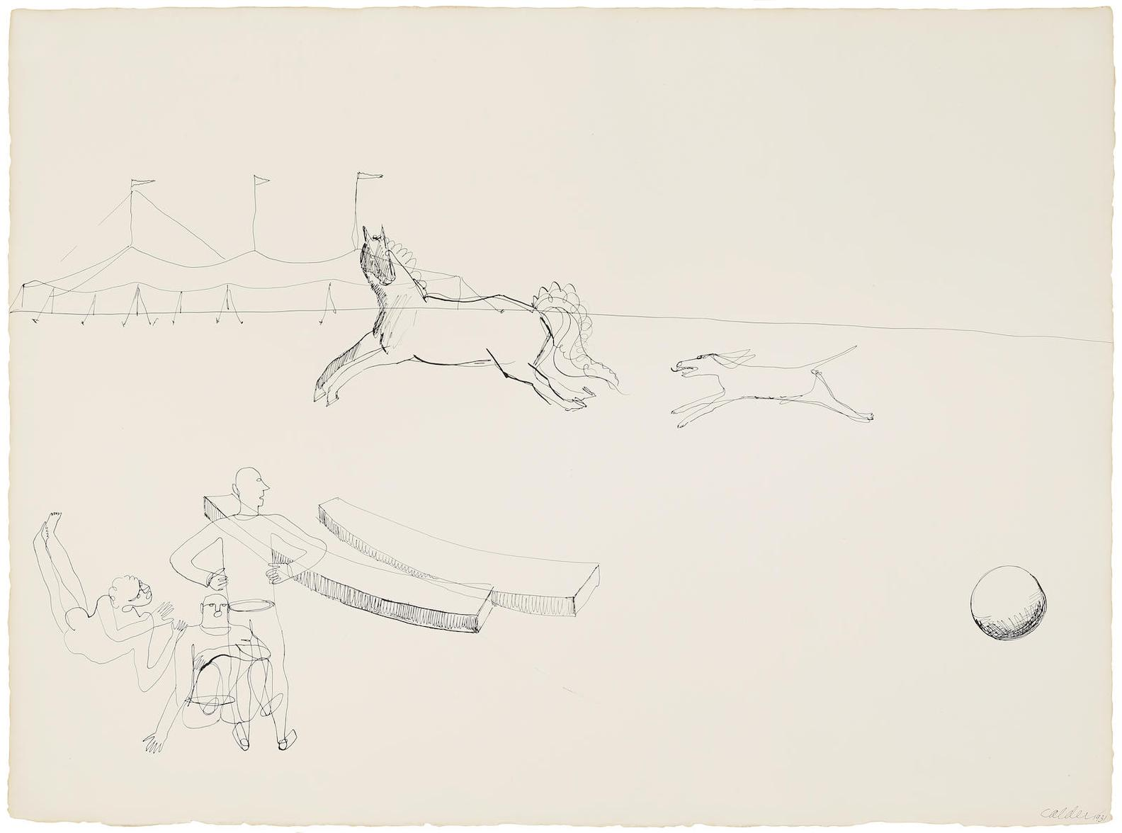 Alexander Calder-Outside The Tent-1931