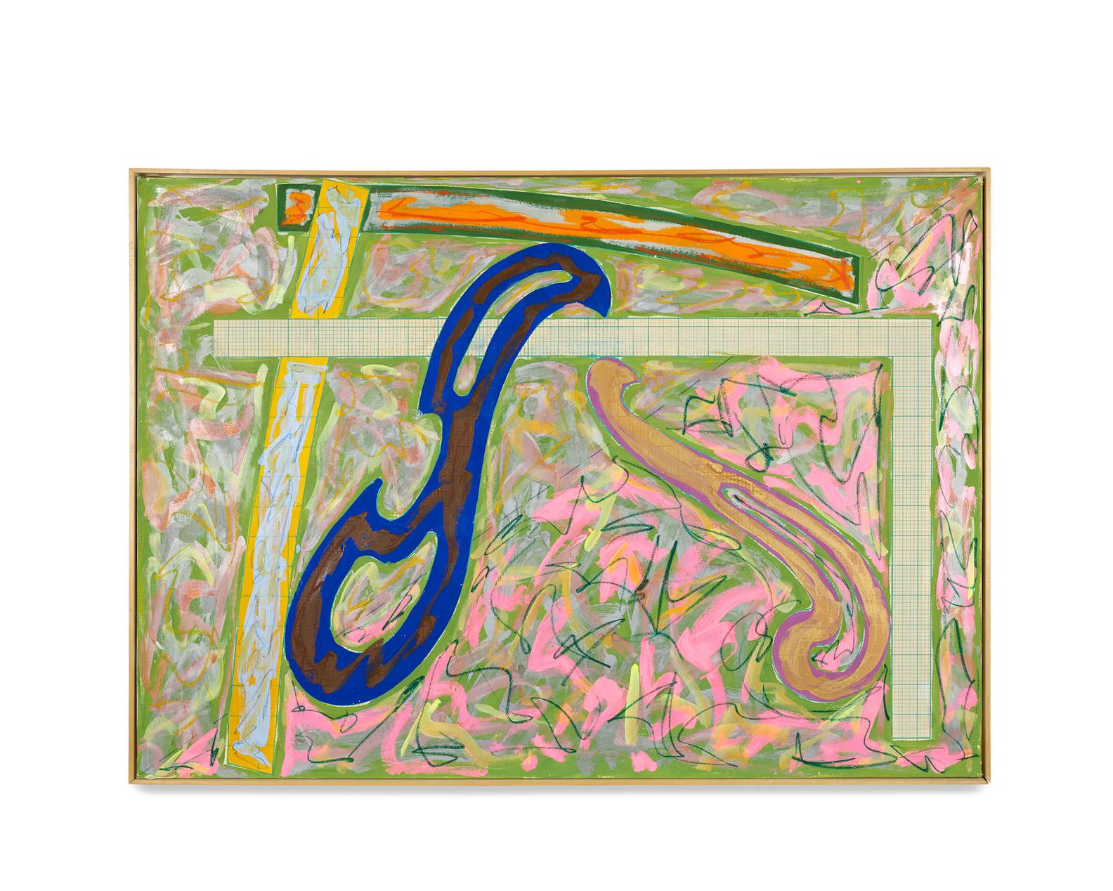Frank Stella-Green Solitaire-1981