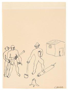 Alexander Calder-The Fox And The Huntsman-1931