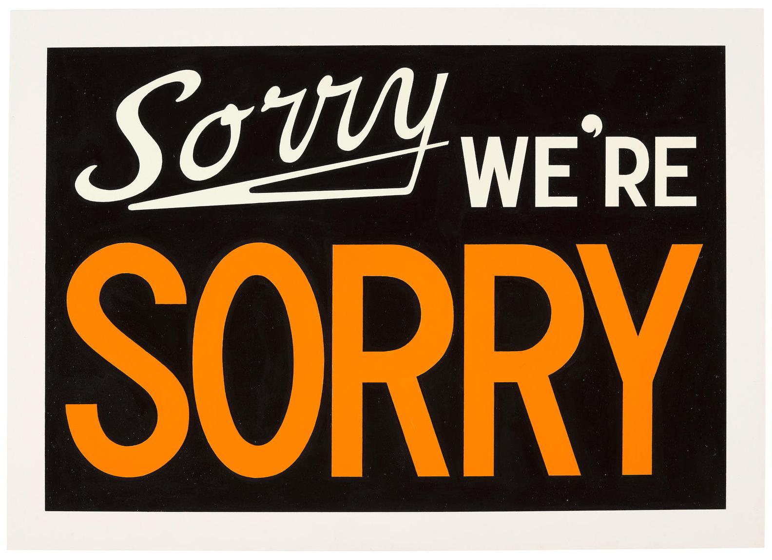 Adam McEwen-Sorry Were Sorry-2003
