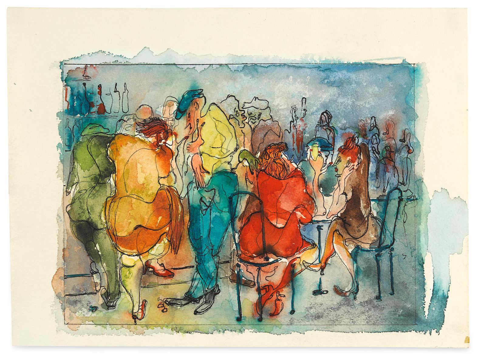 Andy Warhol-Untitled (Bar Scene)-1947