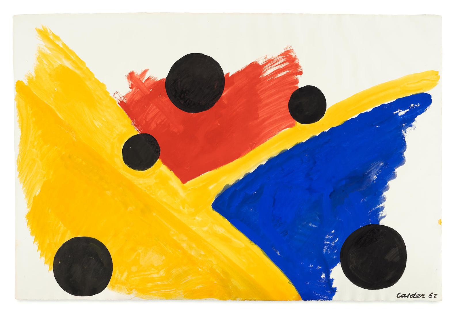Alexander Calder-Black Planets-1962