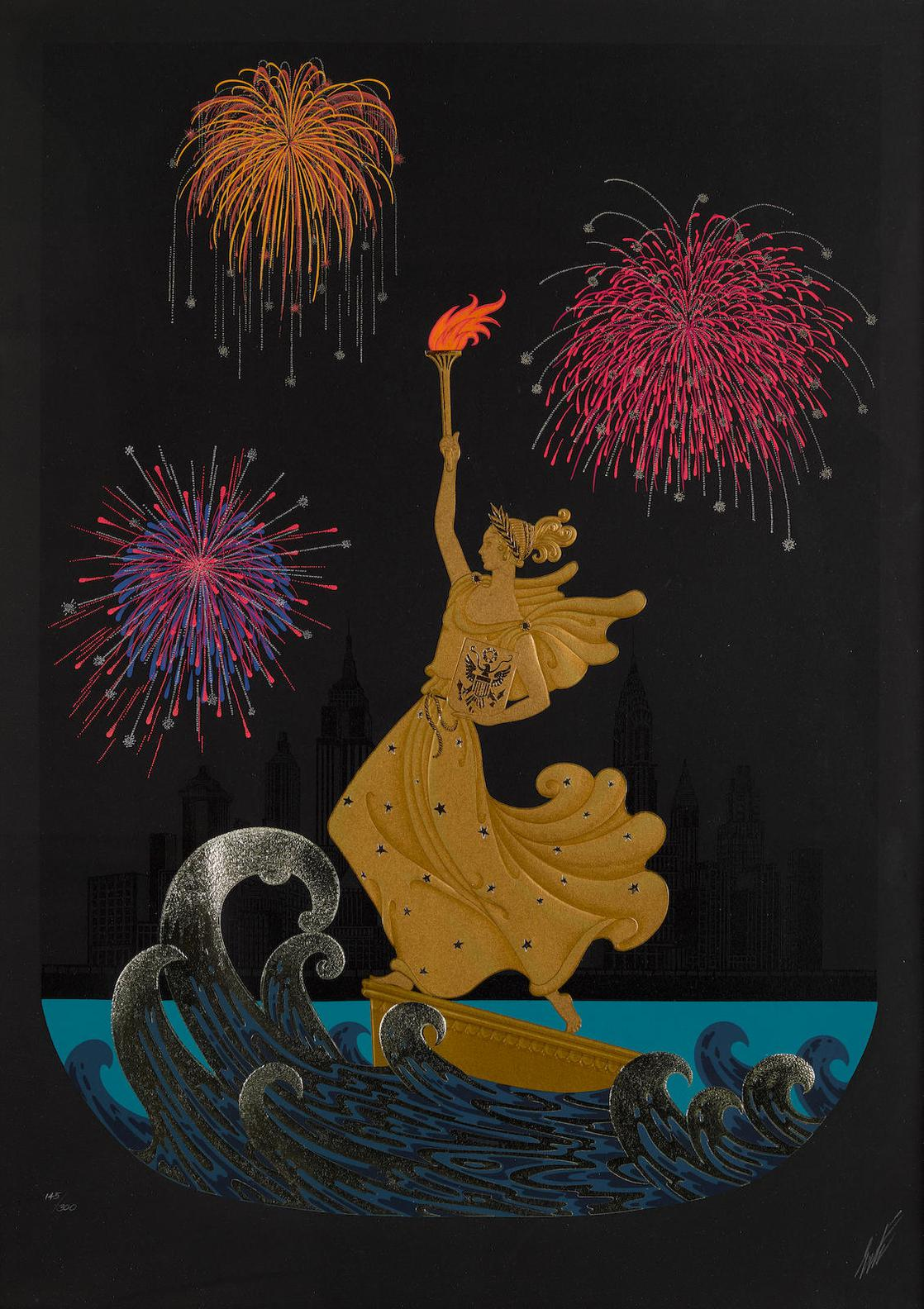 Erte-Statue Of Liberty (Night And Day)-1986