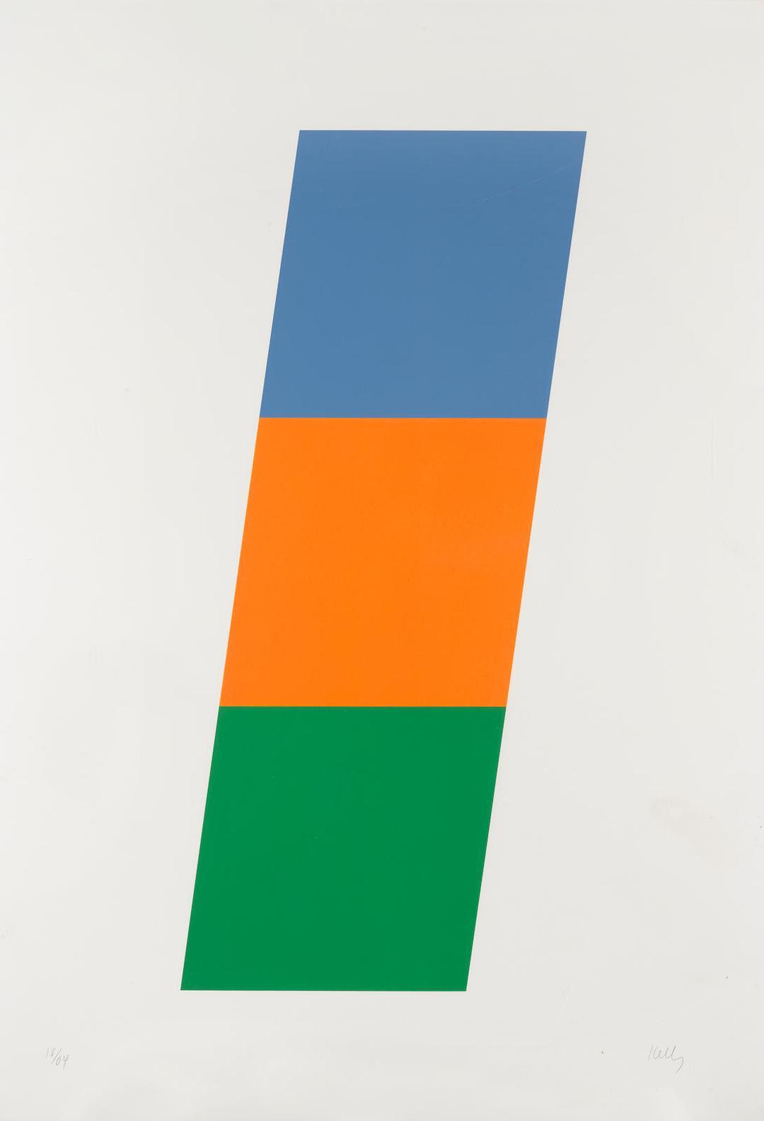 Ellsworth Kelly-Blue/Red-Orange/Green (Axsom 75)-1971