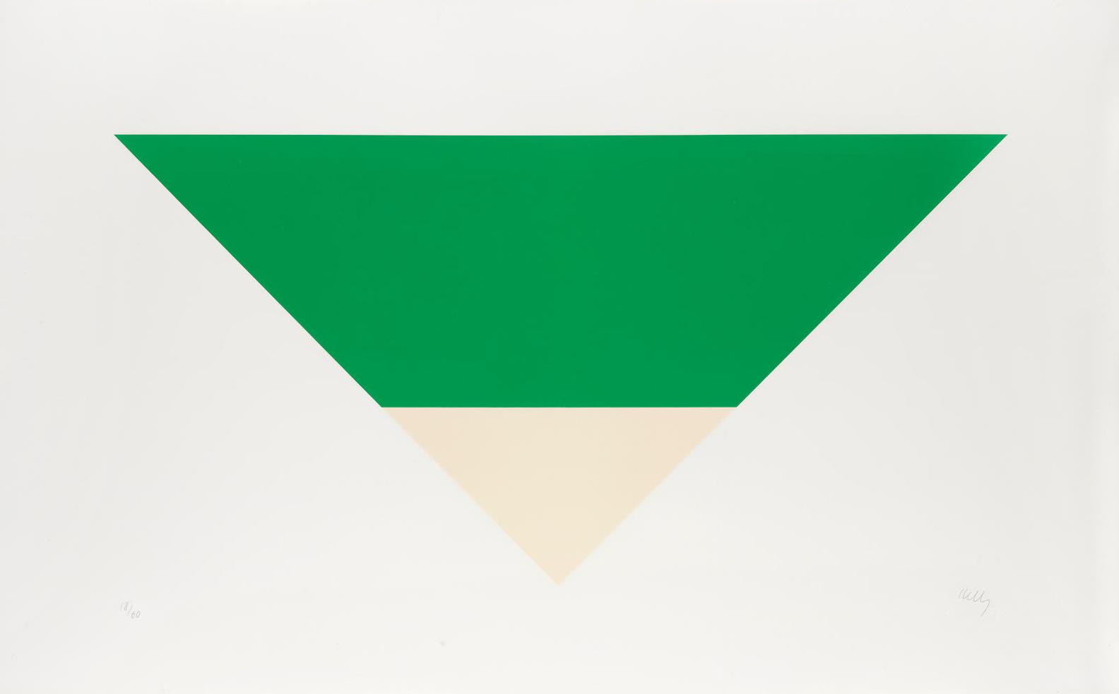 Ellsworth Kelly-Green/White (Axsom 81)-1972
