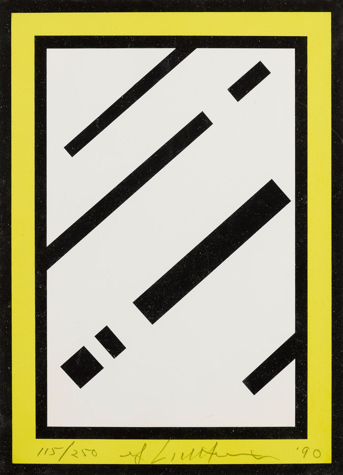 Roy Lichtenstein-Mirror, From Harvey Gantt Portfolio (Corlett 246)-1990