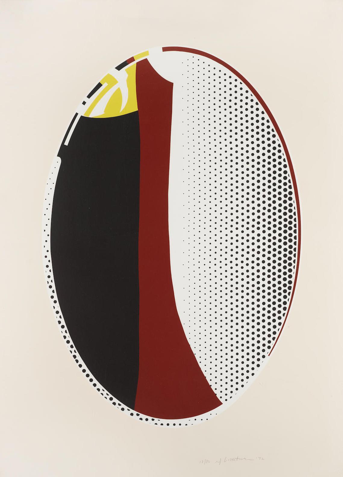 Roy Lichtenstein-Mirror #6; From The Mirror Series (C. 111)-1972