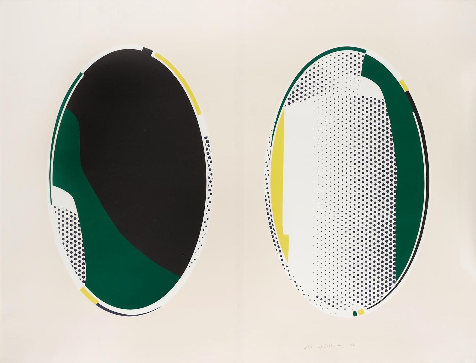 Roy Lichtenstein-Mirror #8; From The Mirror Series (C. 113)-1972