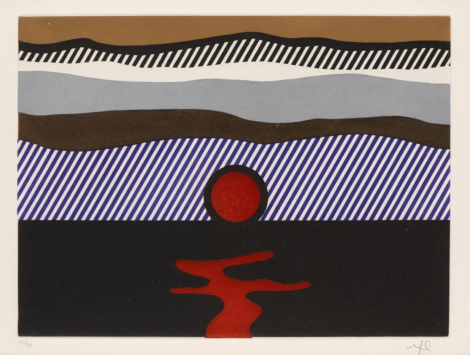 Roy Lichtenstein-Illustration For De Nouveau Au-Dessus De Denver, From La Nouvelle Chute De Lamerique (Corlett 272)-1992
