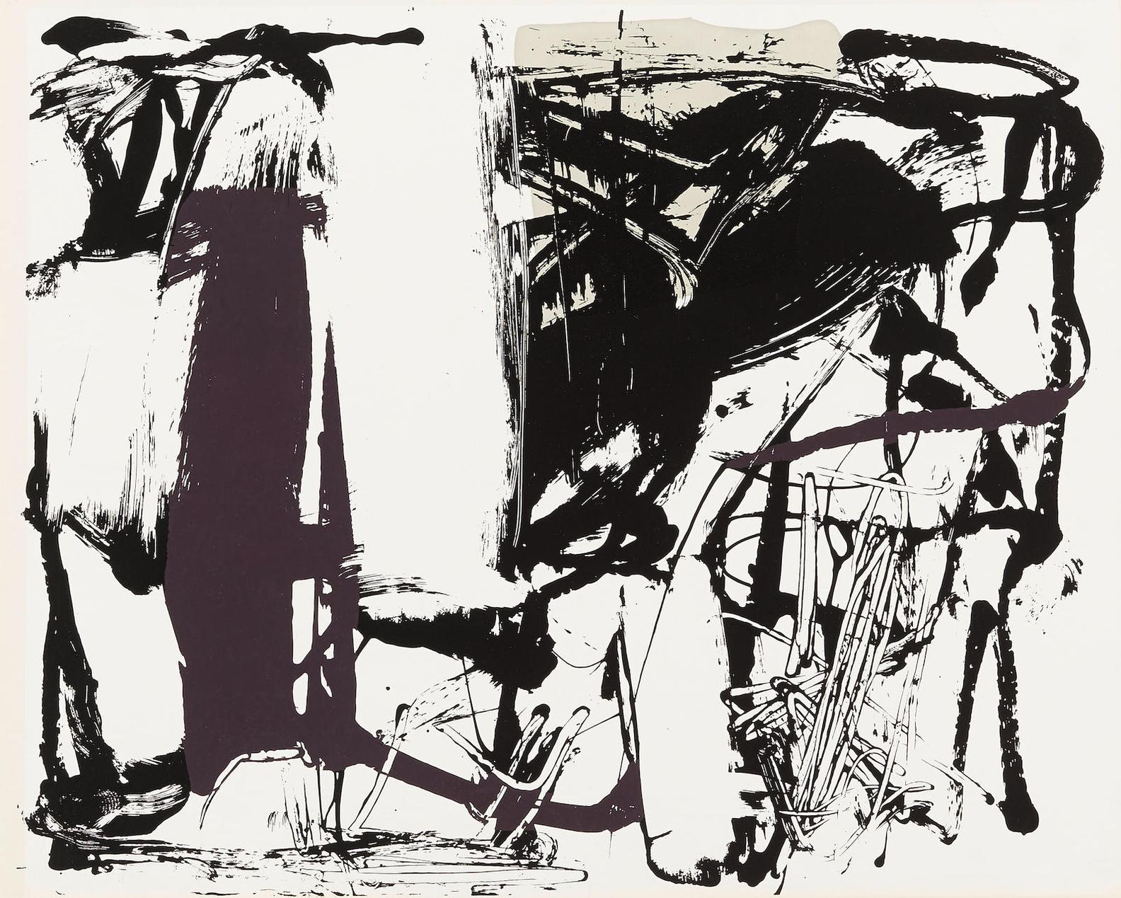 Joan Mitchell-Untitled, From The Poems By John Ashbery-1960