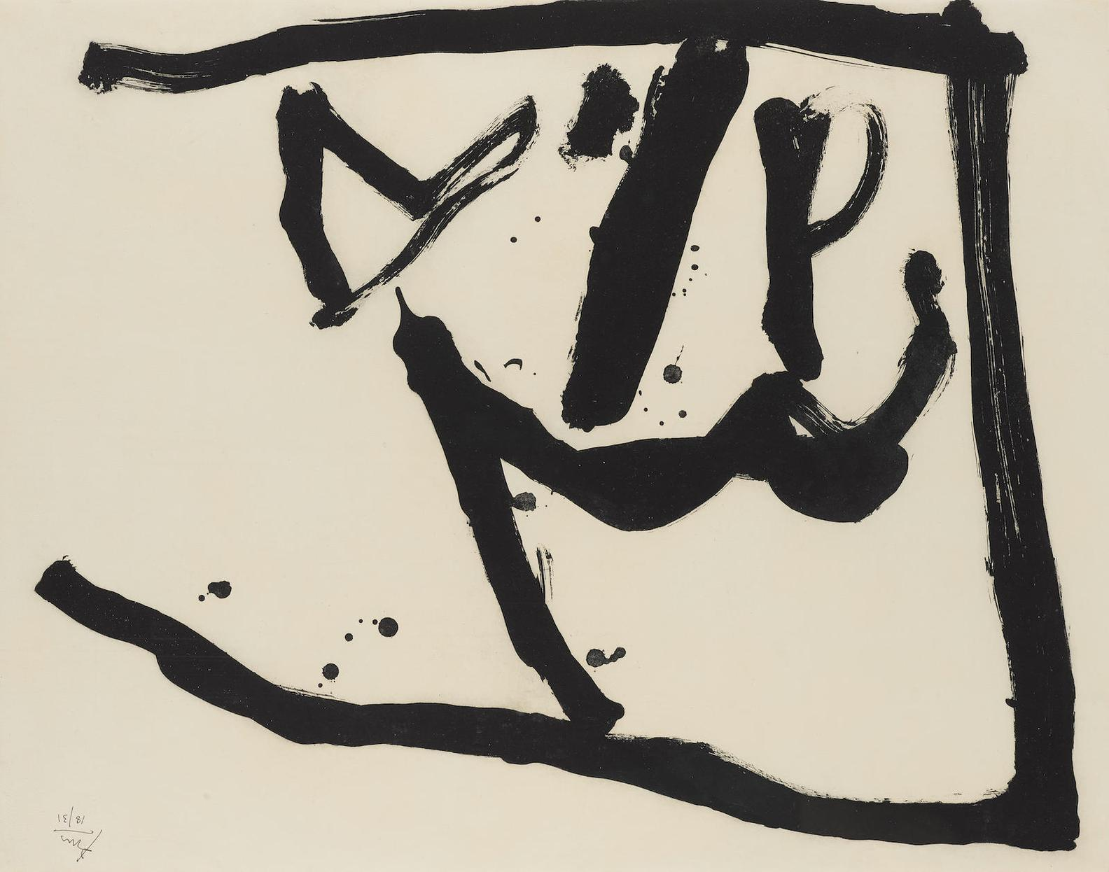 Robert Motherwell-Bloomsday (B. 256; E. And B. 291)-1982