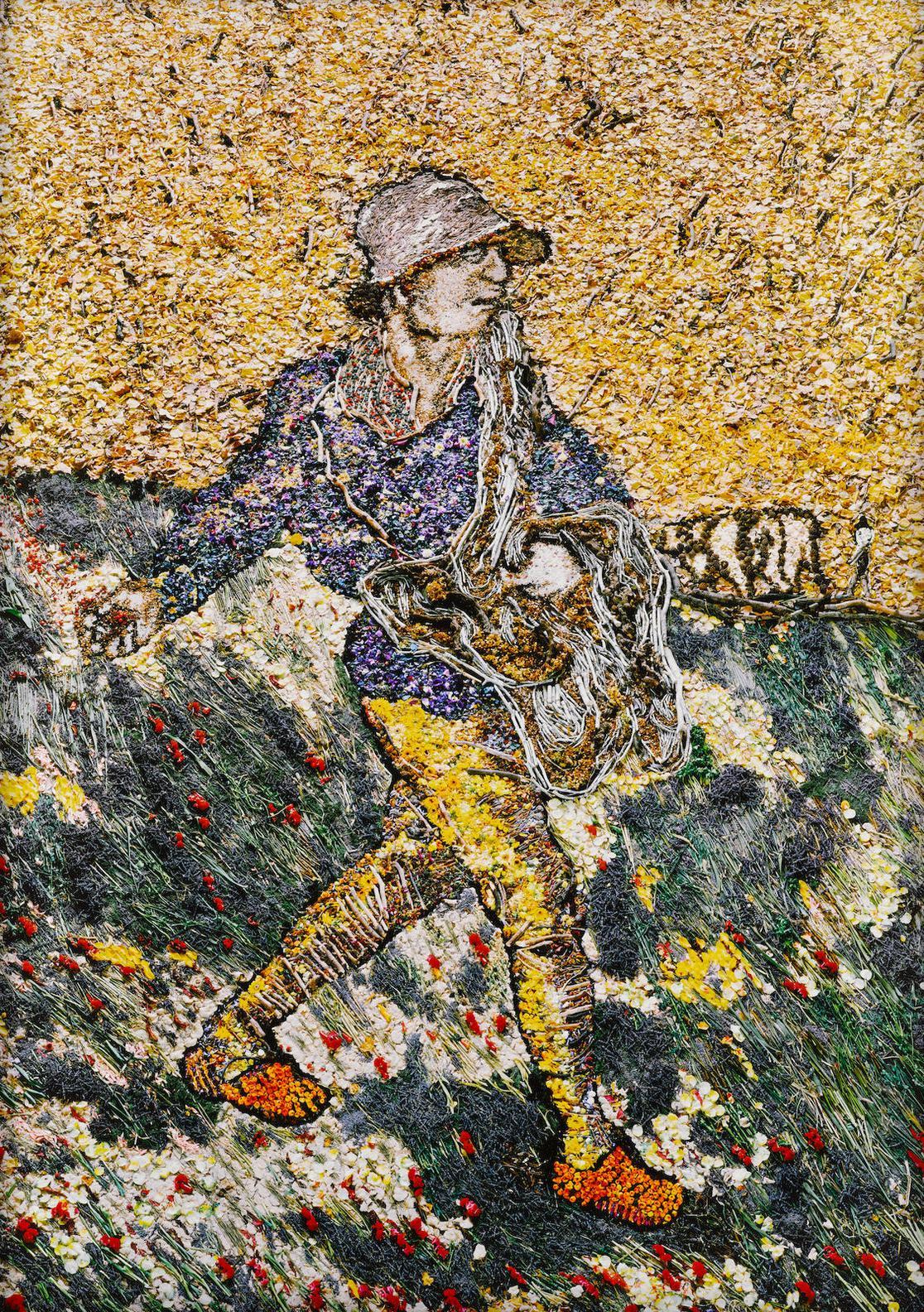 Vik Muniz-The Sower, After Van Gogh-2011