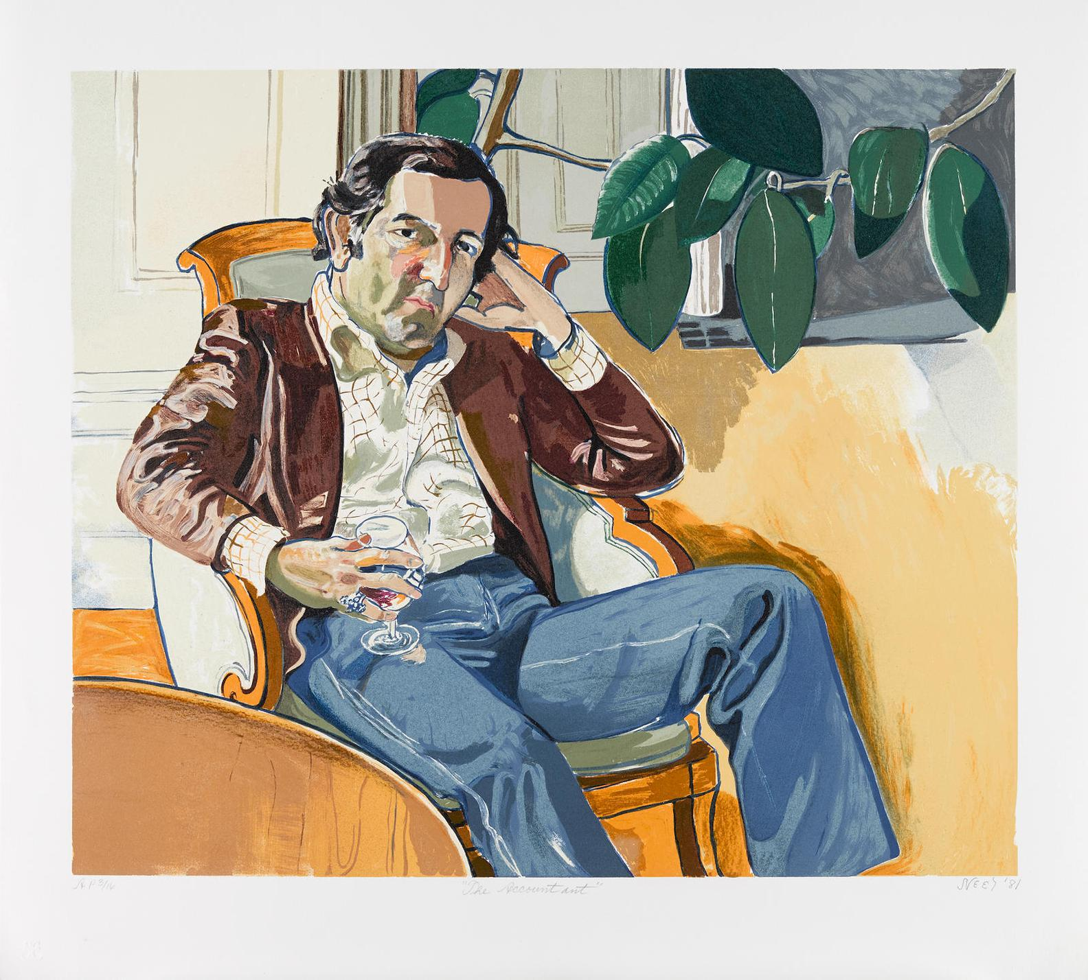 Alice Neel-The Accountant (Marvin)-1981