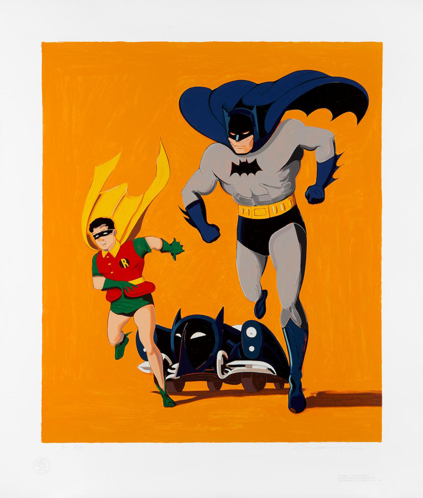 Mel Ramos-Batman, Robin And Batmobile-1989