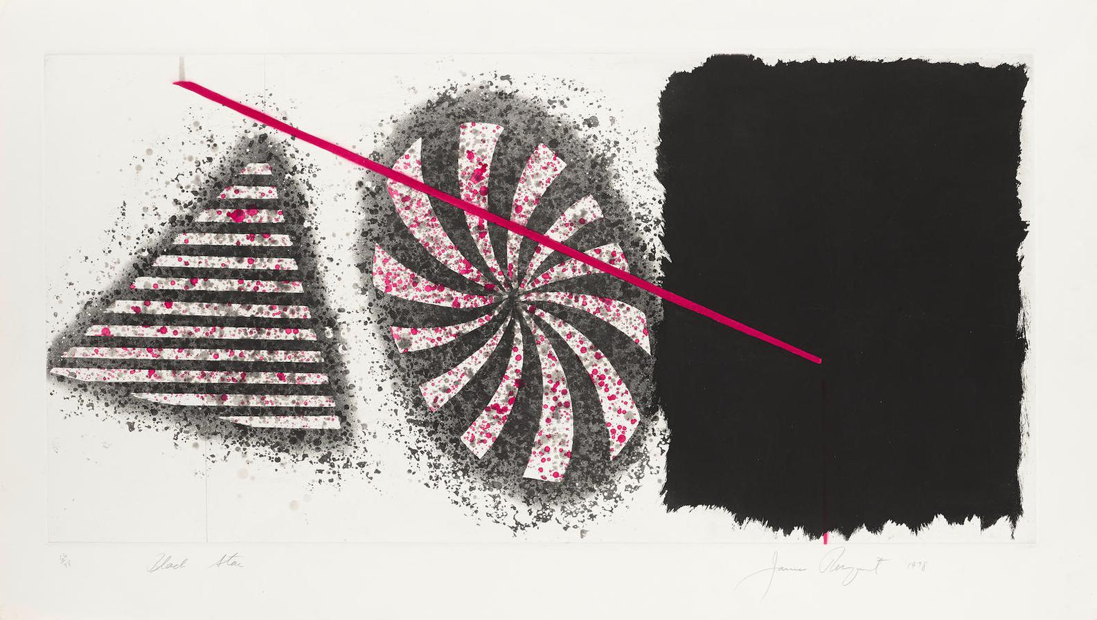 James Rosenquist-Black Star; Black Star 2Nd State-1978