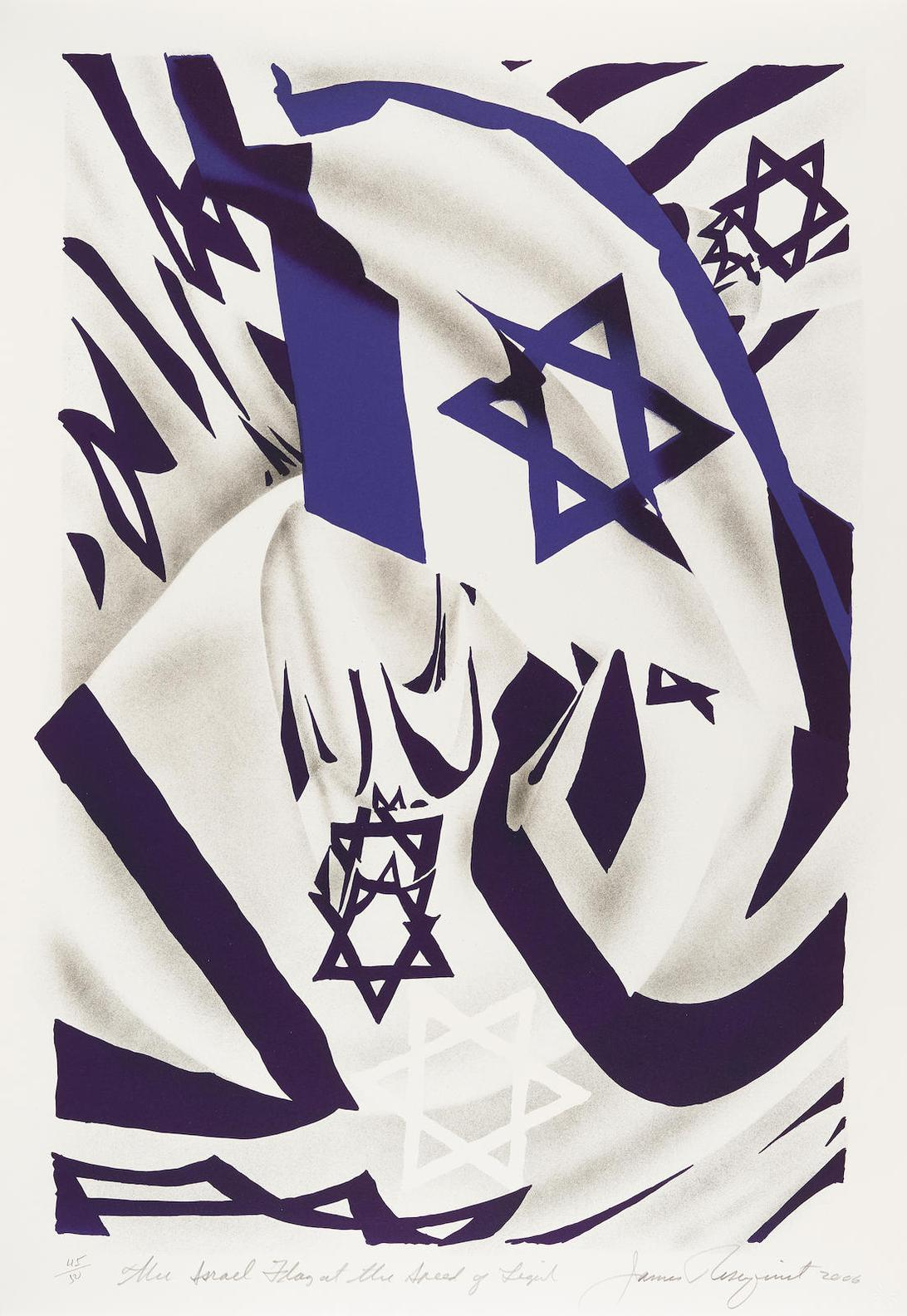 James Rosenquist-Israel Flag At The Speed Of Light-2006