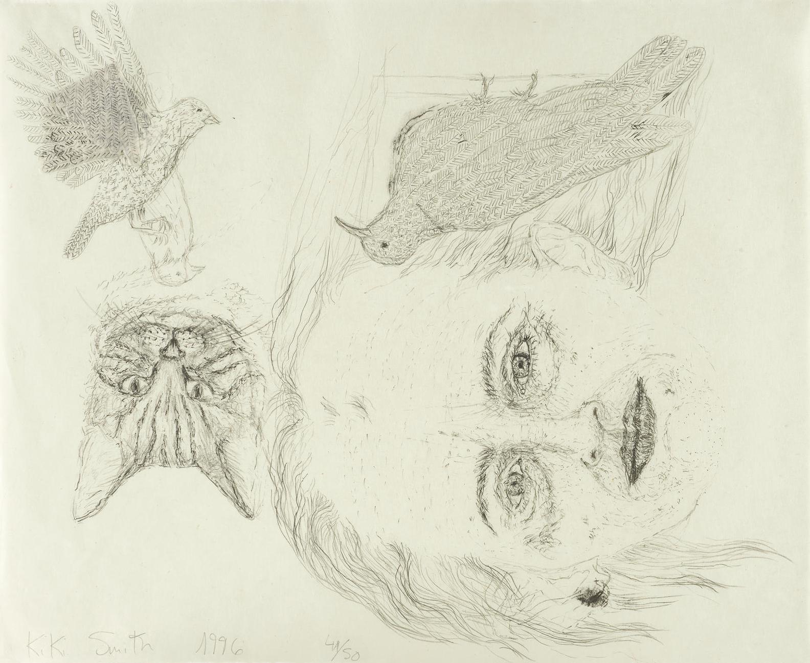 Kiki Smith-Ginzer And The Birds  (W. 77)-1996