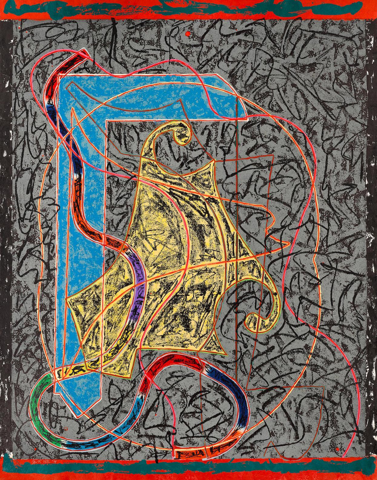 Frank Stella-Imola Three II; From Circuits (Axsom 142.1)-1984
