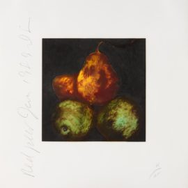 Donald Sultan-Red Pears; From The Portfolio Fruits And Flowers-1989