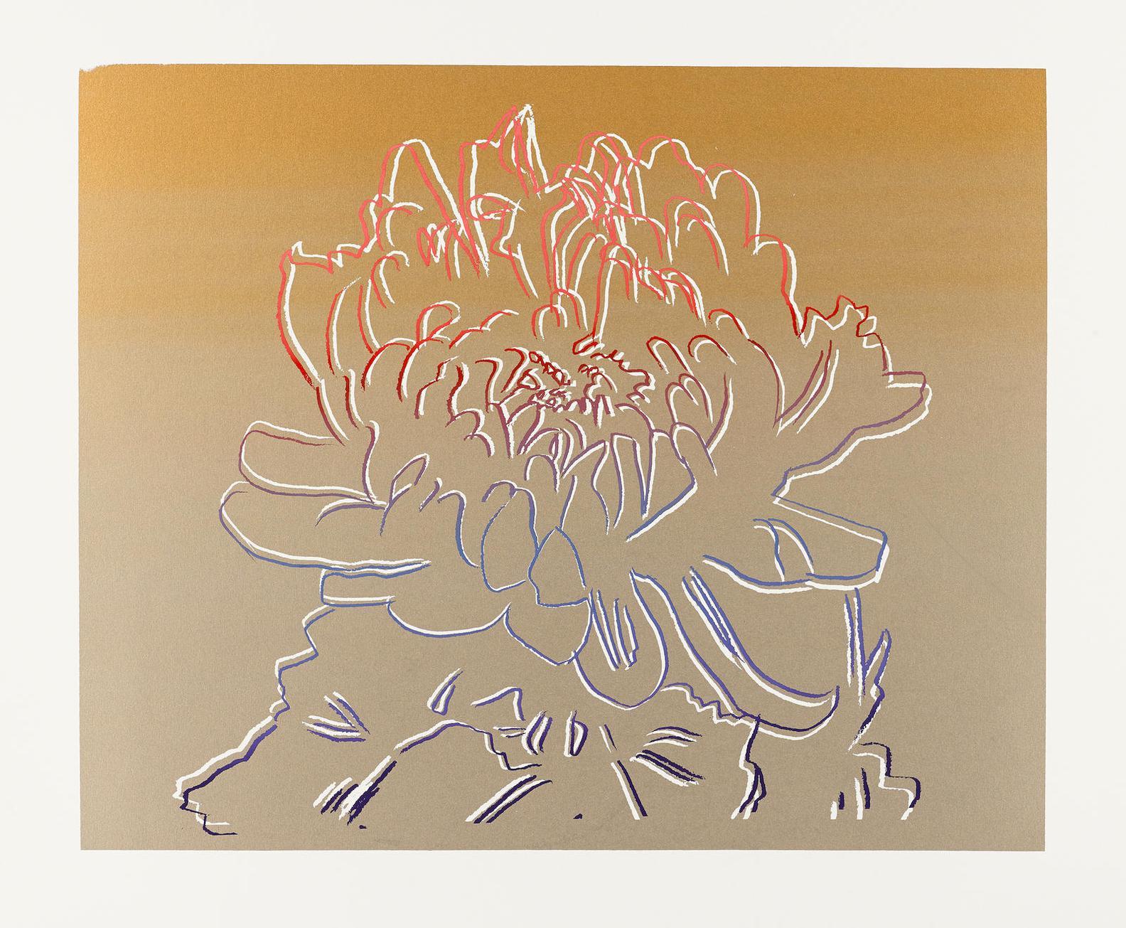 Andy Warhol-Kiku (Gold And Pink) (See F./S. Ll.307)-1983