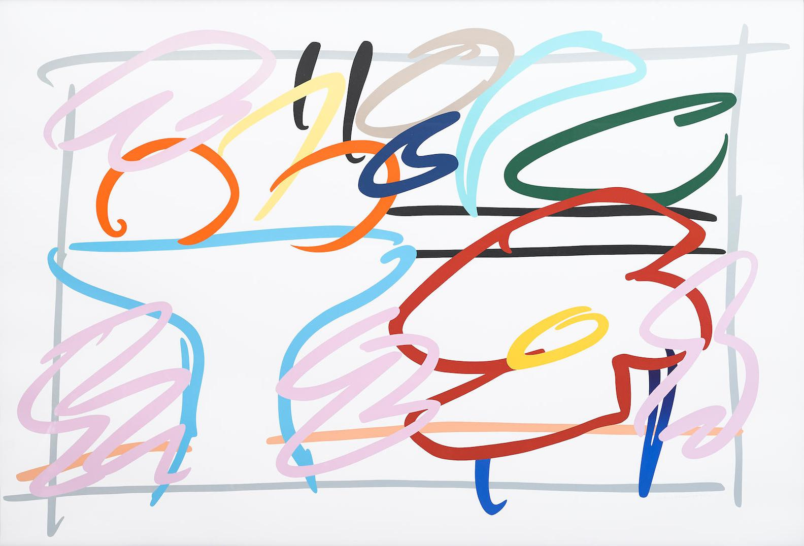 Tom Wesselmann-Fast Sketch Still Life With Abstract Painting-1989