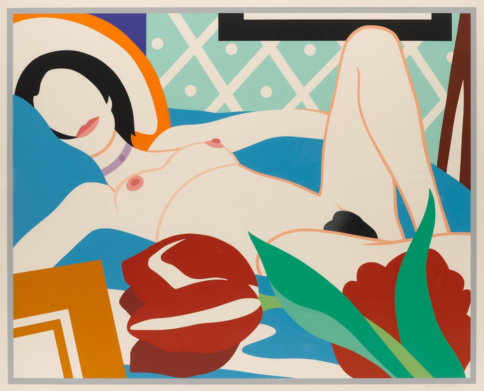Tom Wesselmann-Monica With Tulips-1989