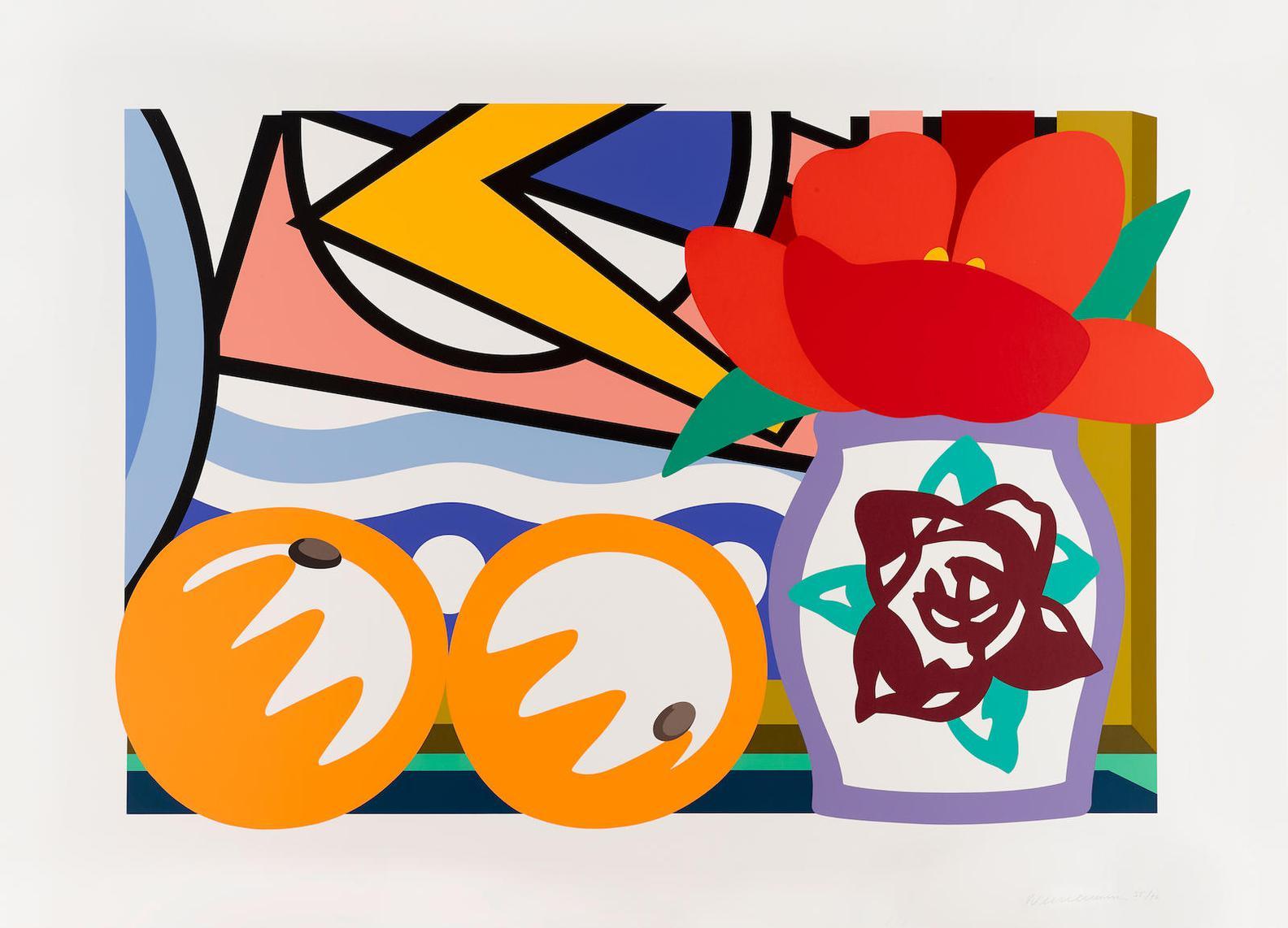 Tom Wesselmann-Still Life With Lichtenstein And 2 Oranges-1993
