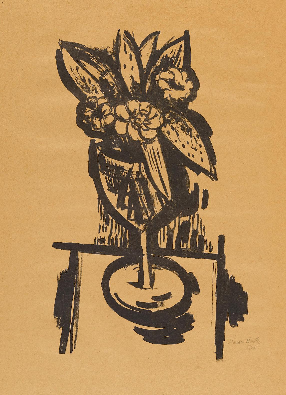 Marsden Hartley - Flowers In Goblet #1-1923
