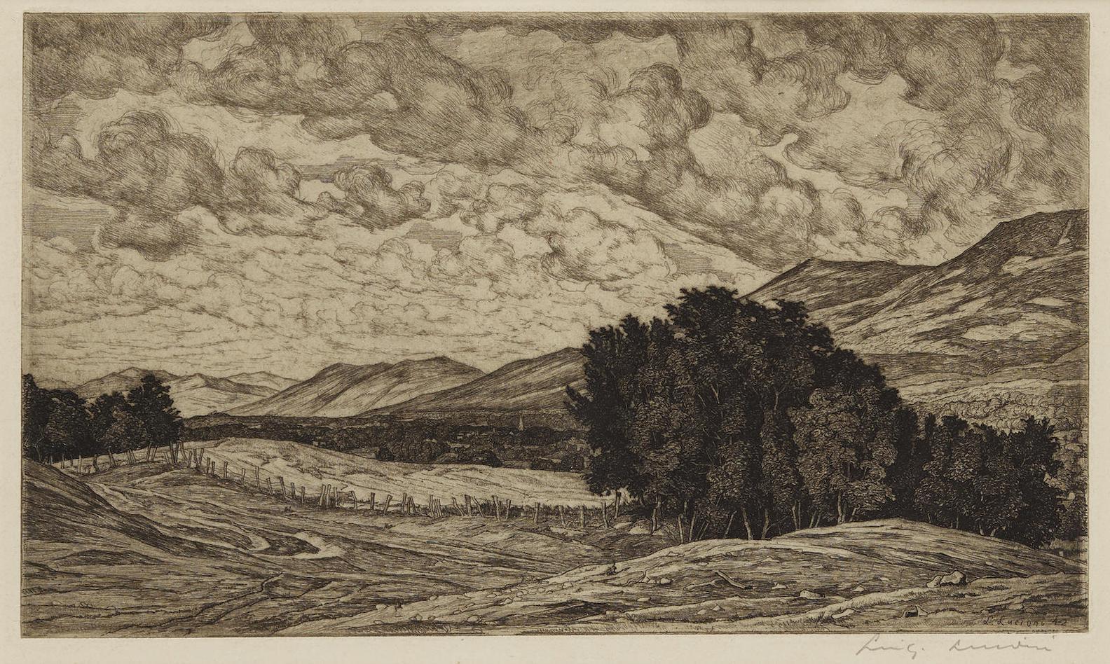 Luigi Lucioni - Vermont Pastoral; Peace In The Valley, Vermont; Vermont Splendor-1944