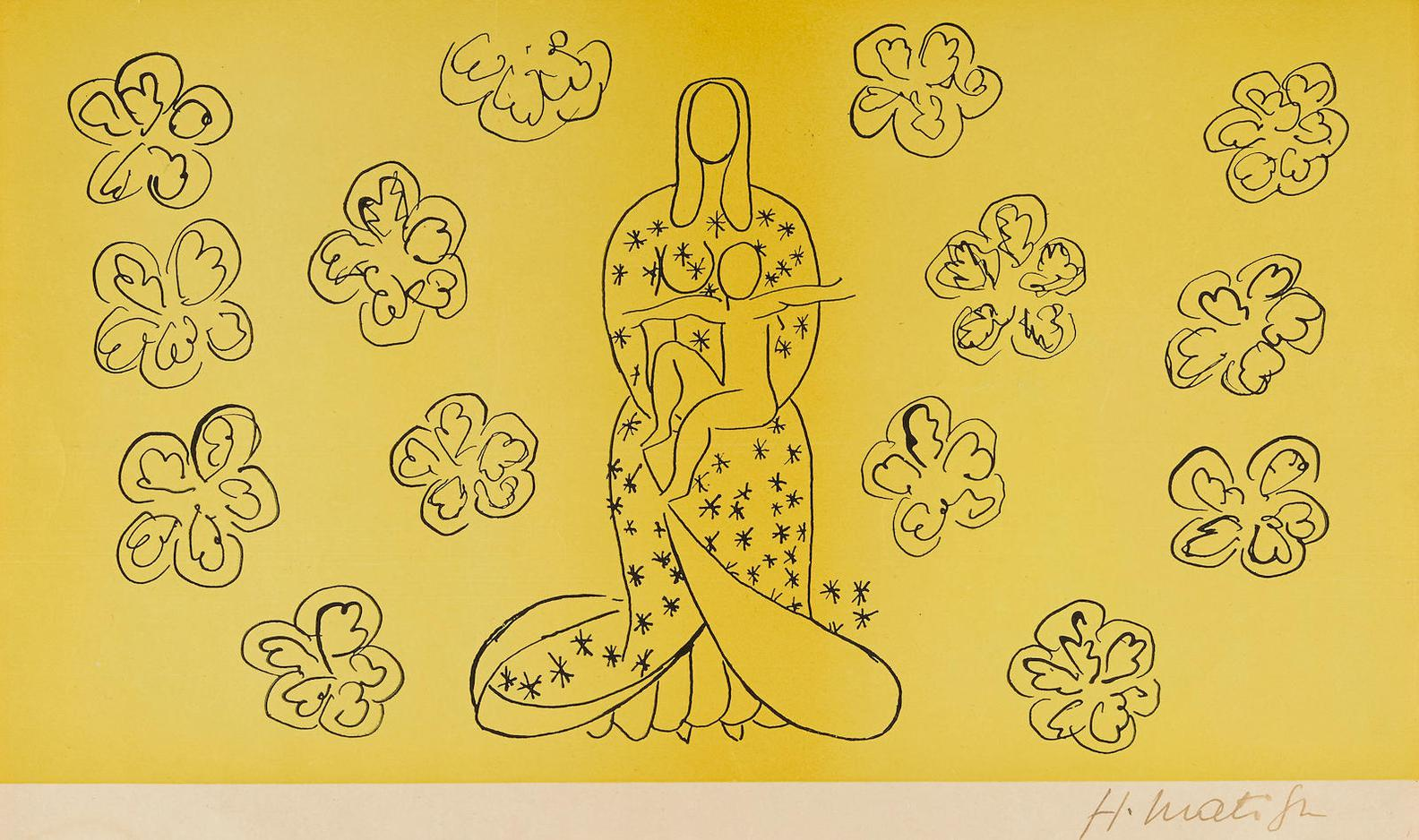 Henri Matisse-After Henri Matisse - La Vierge Et Lenfant (Virgin And Child)-1949