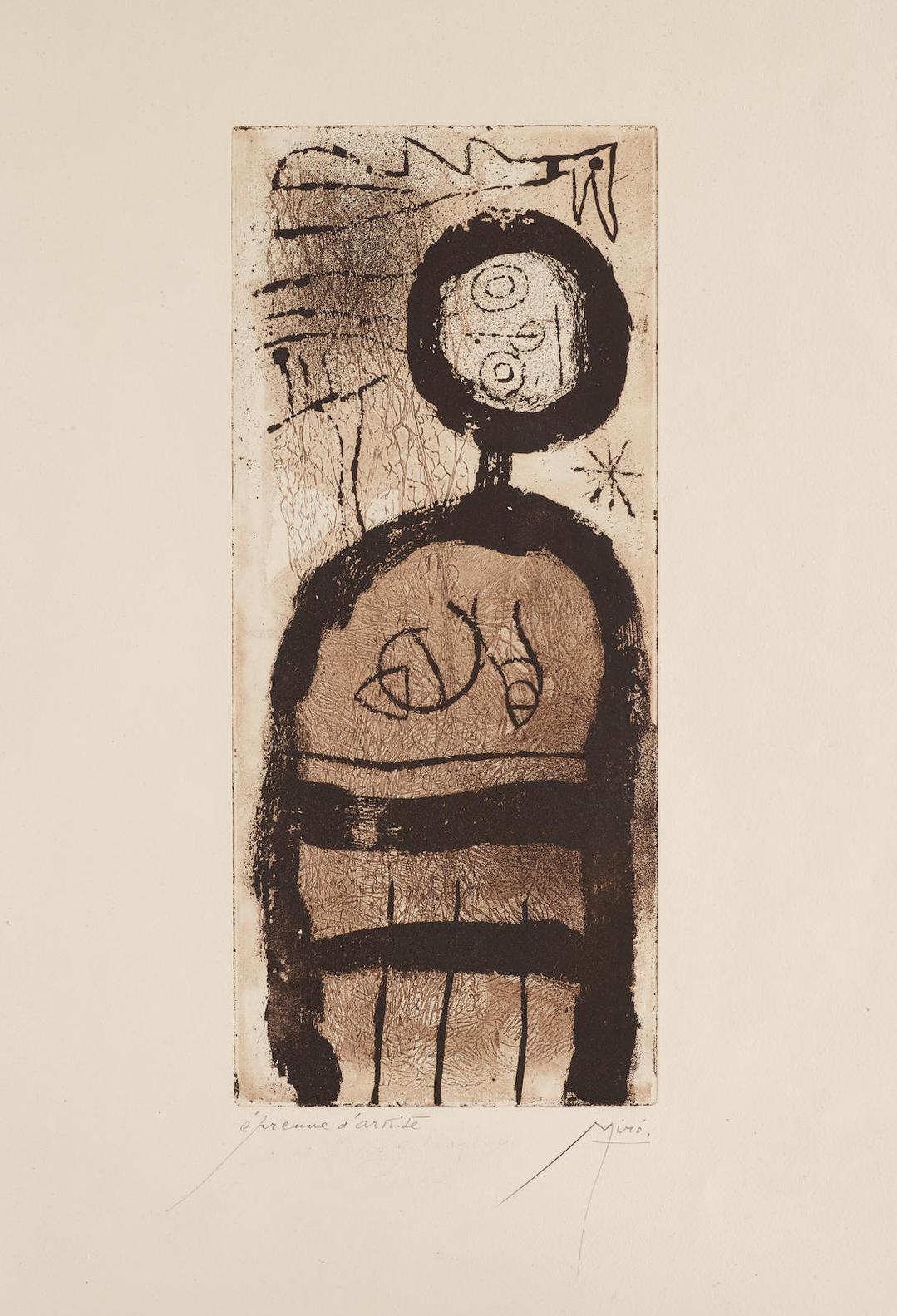Joan Miro-La Creole (D. 147)-1958