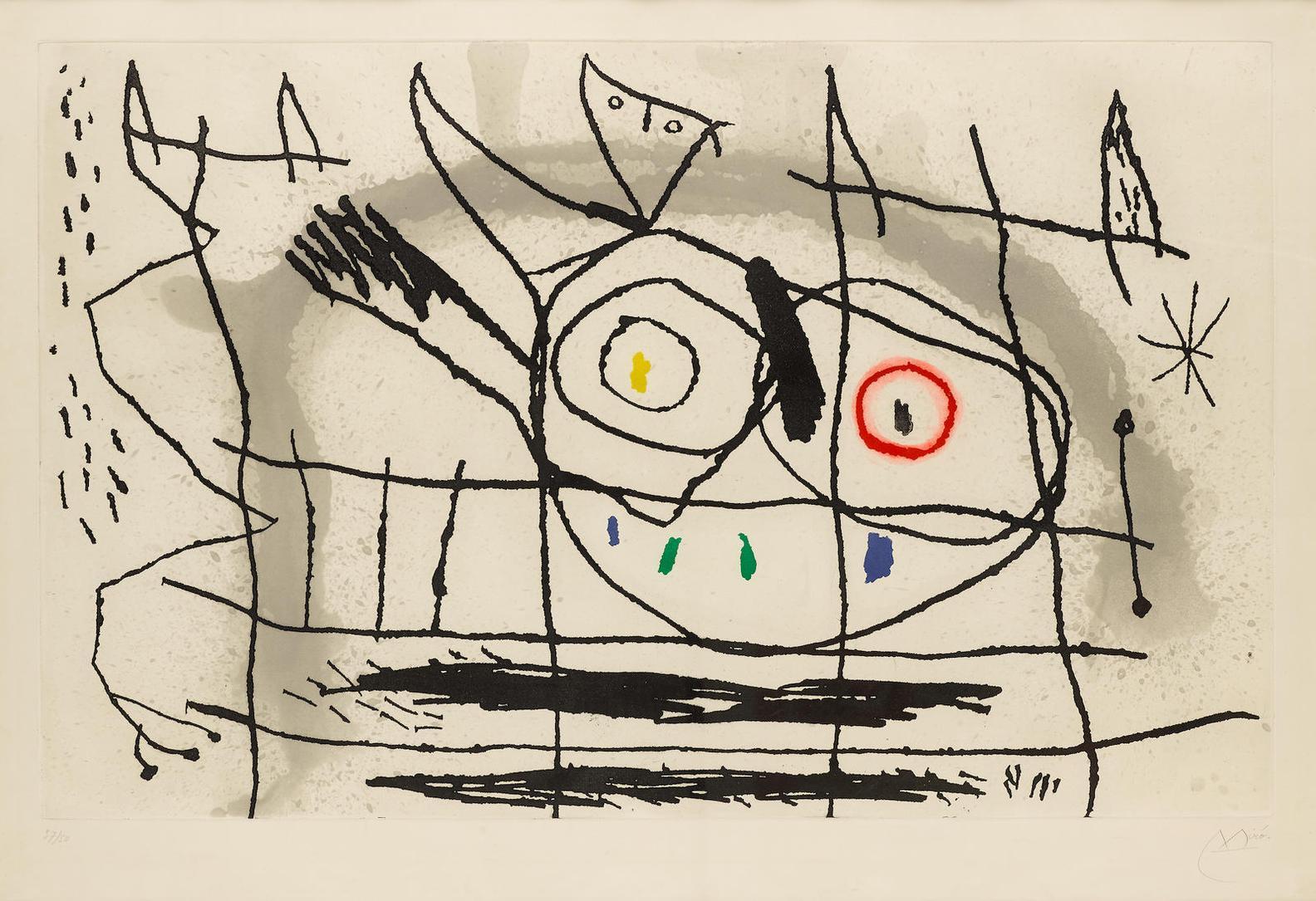Joan Miro-Couple Doiseaux II (D. 415)-1966