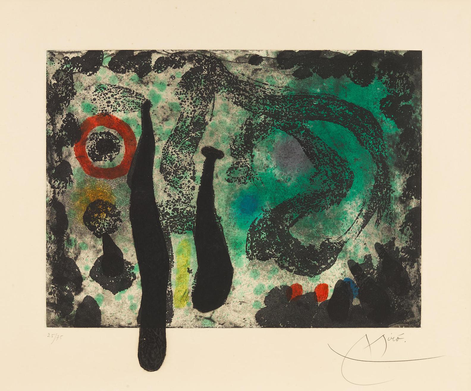 Joan Miro-Le Jardin De Mousse (M. 454)-1968