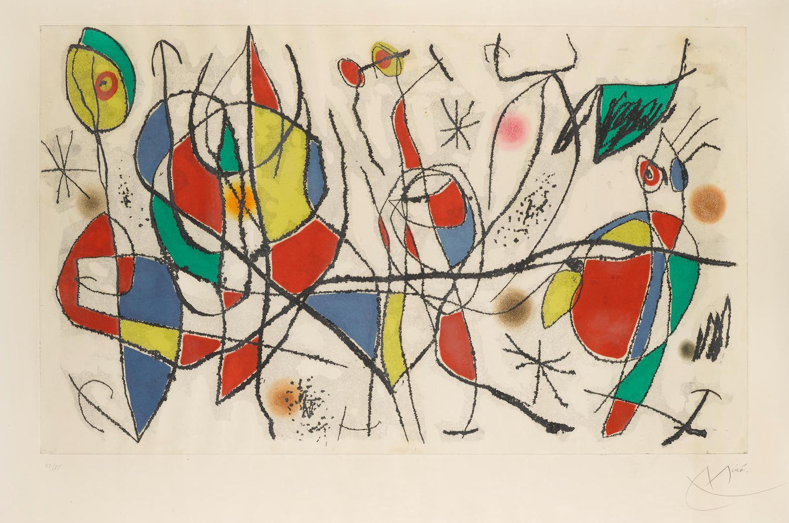 Joan Miro-Linvitee Du Dimanche I  (D. 480)-1969