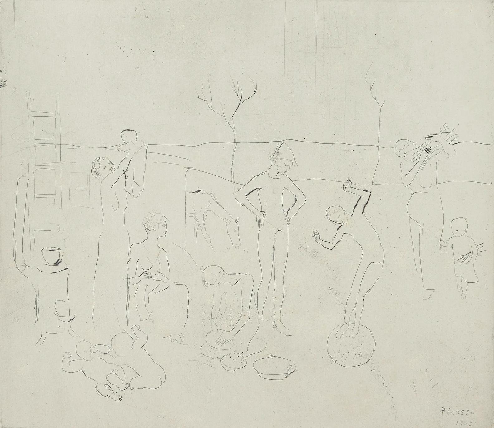 Pablo Picasso-Les Saltimbanques (From La Suite Des Saltimbanques) (B. 7, Ba.9)-1905