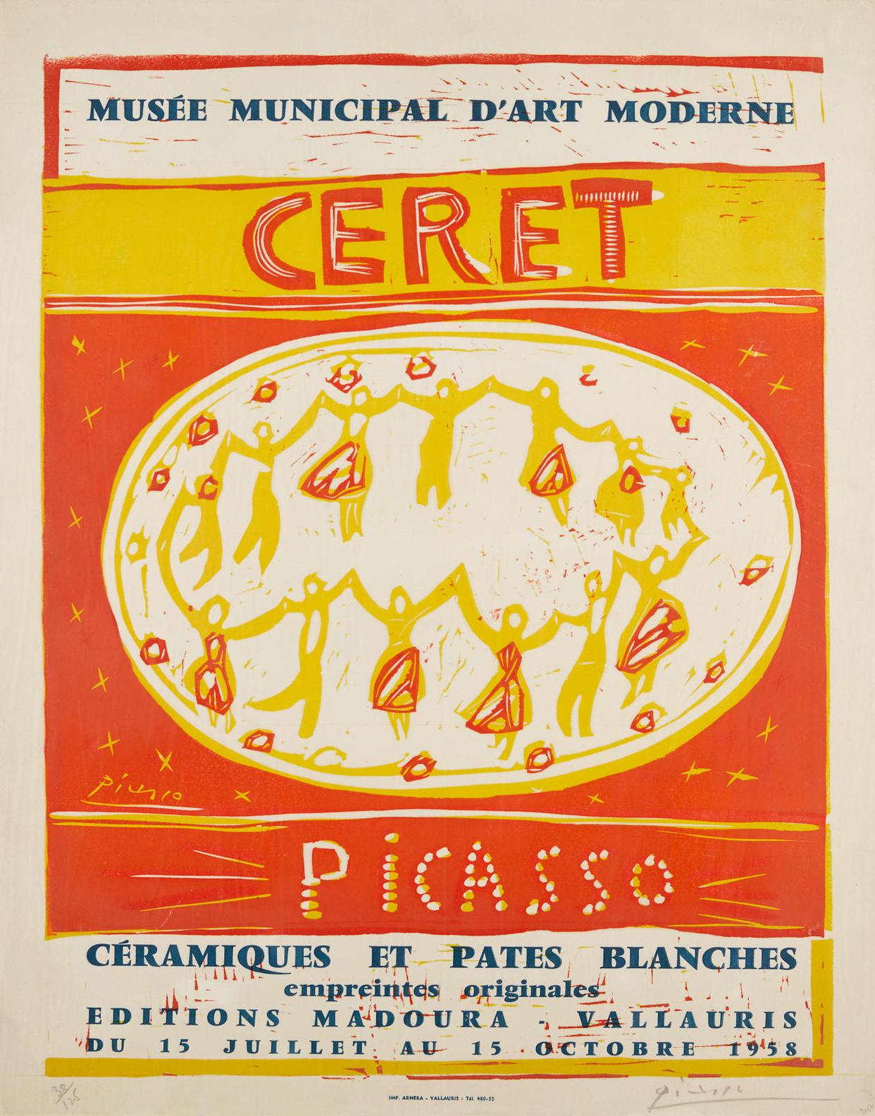 Pablo Picasso-Musee Municipal Dart Moderne Ceret (B. 1283; Ba. 1048)-1956