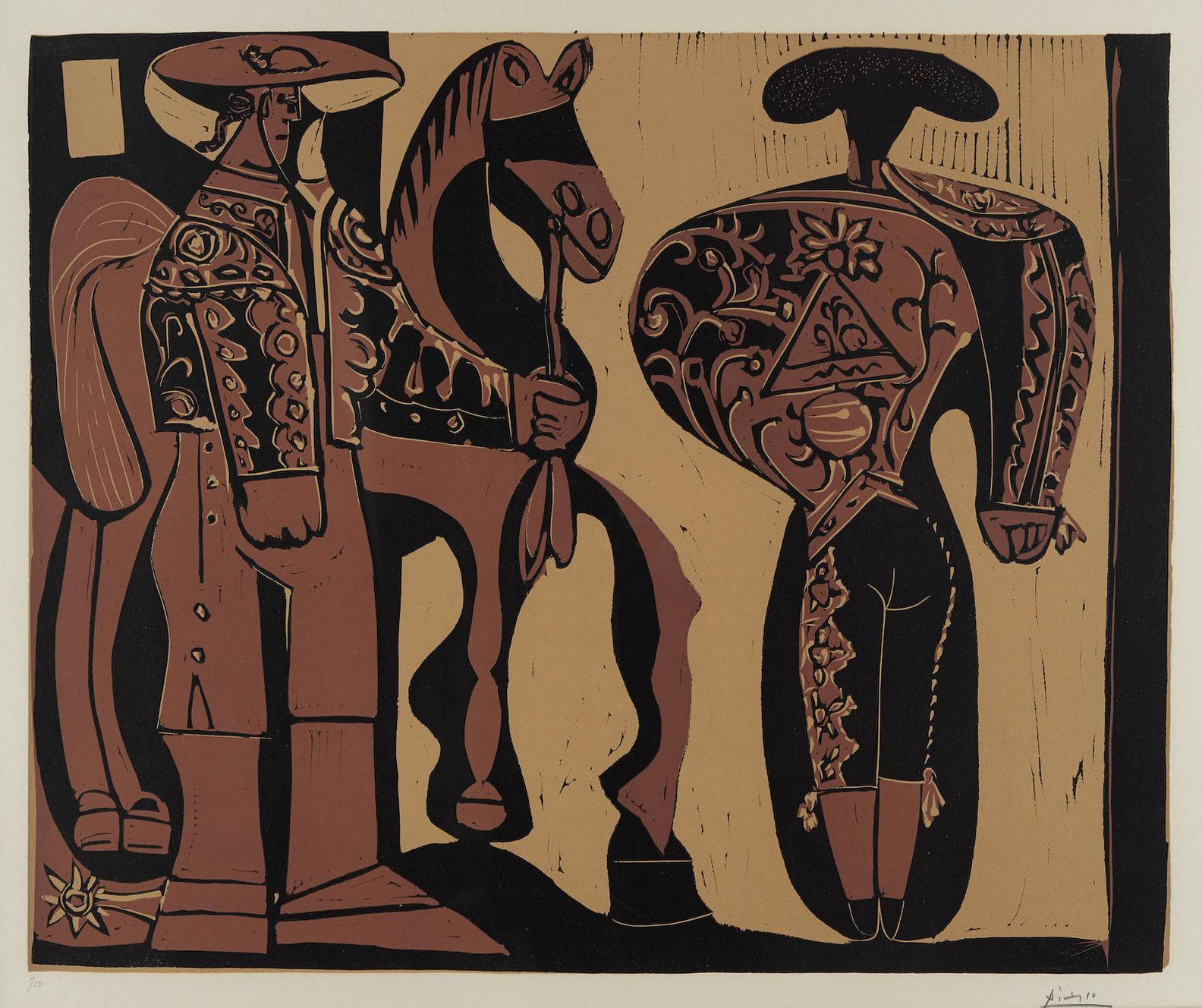 Pablo Picasso-Picador Et Torero (B. 906; Ba. 1231)-1959