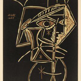 Pablo Picasso-Tete De Femme (B. 947; Ba. 1213)-1959