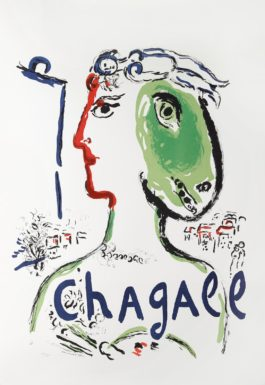 Marc Chagall-After Marc Chagall - The Artist As Phoenix (Cs. 58)-1972