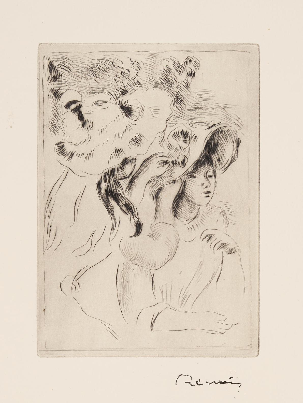 Pierre-Auguste Renoir-Le Chapeau Epingle (La Fille De Berthe Morisot Et Sa Cousine) (D. II.7)-1894