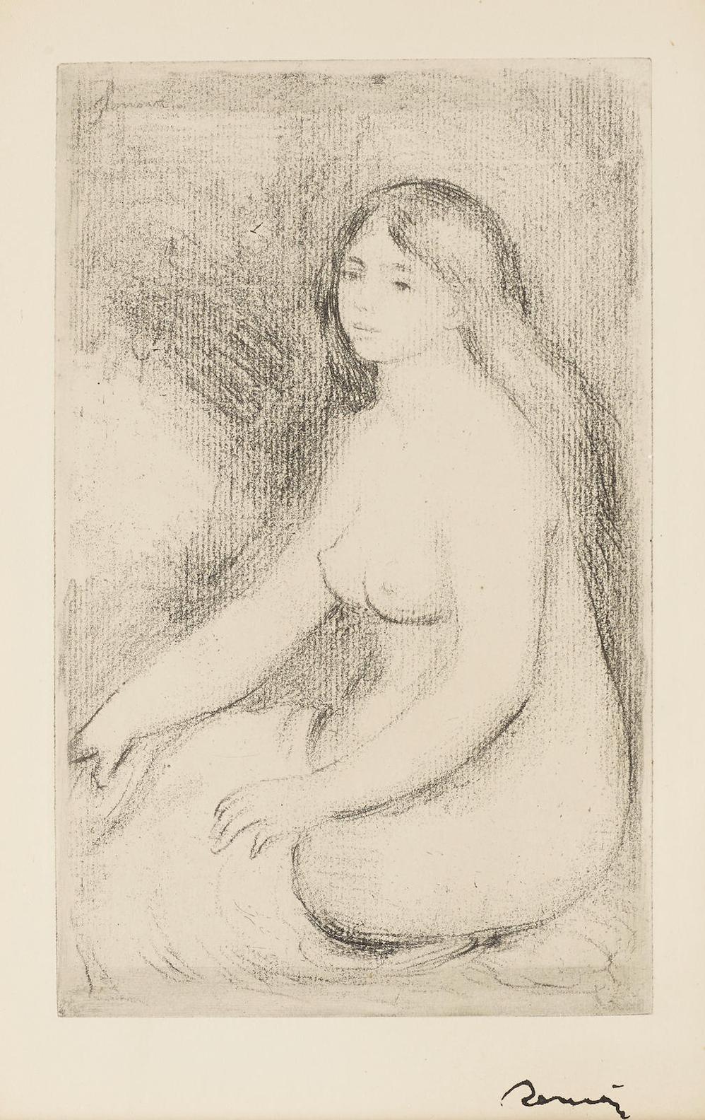 Pierre-Auguste Renoir-Baigneuse Assise (D. 11)-1897