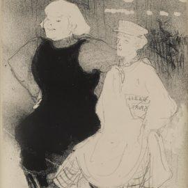Henri de Toulouse-Lautrec-Au Moulin Rouge: Lunion Franco-Russe (W.55; D. 50; A. 53)-1893