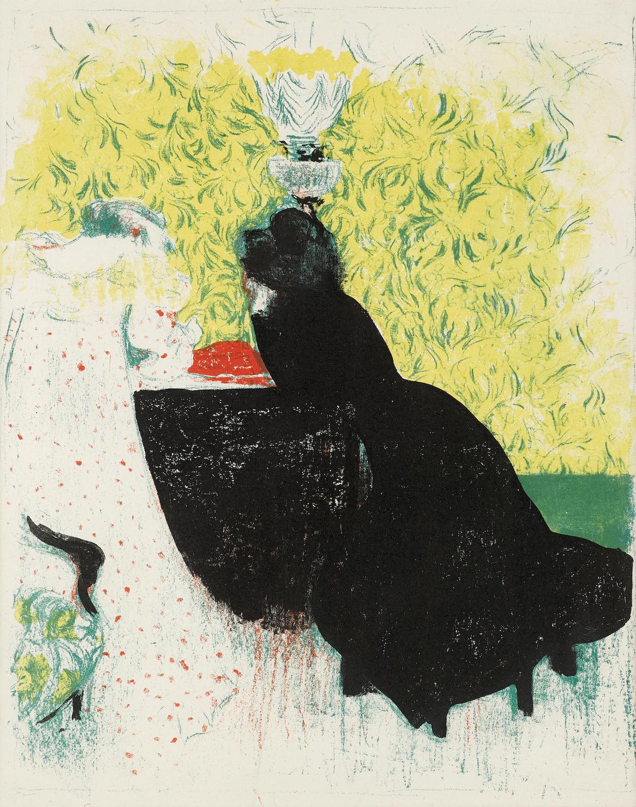 Edouard Vuillard-Deux Belles Soeurs, From Paysages Et Interieurs (R.M. 43)-1899