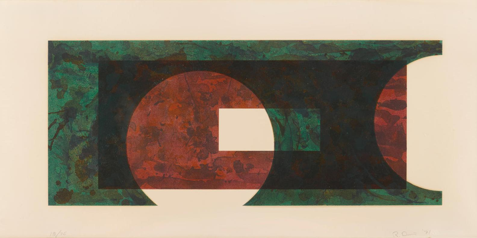 Ron Davis-Triangle Slice; Two Circle; Both From Rectangle Series-1971