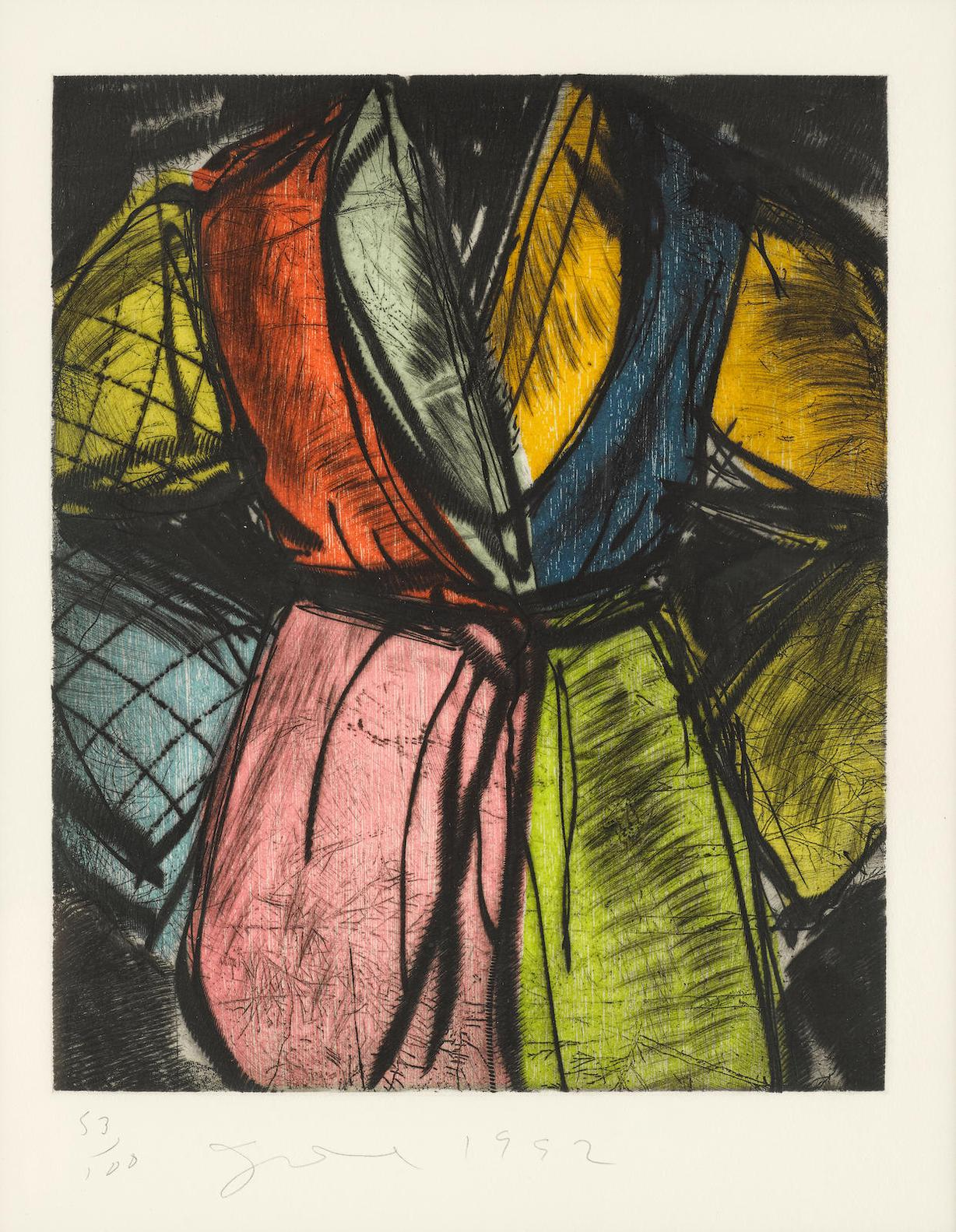 Jim Dine-Bill Clinton (Robe), From Sixteen Artists For Freedom Of Expression  (Carpenter 57)-1992