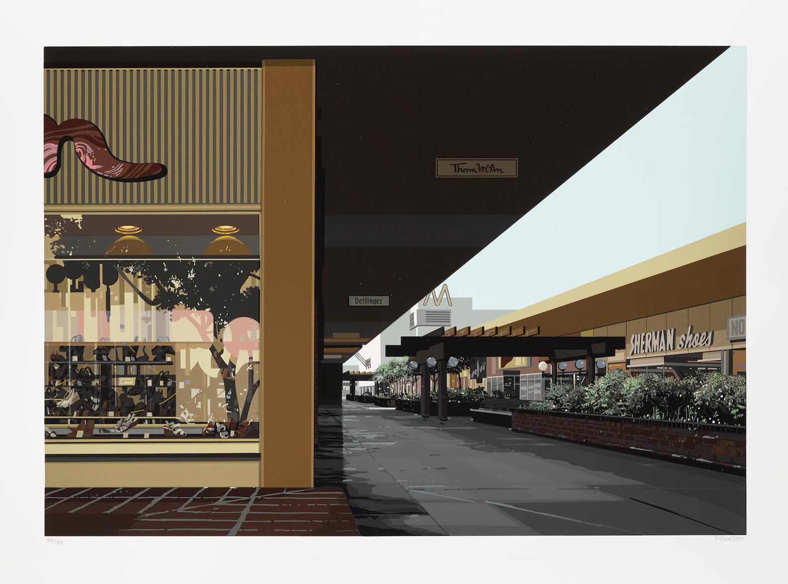 Richard Estes-Lakewood Mall, From Urban Landscapes No. 3; Salzburg-1982