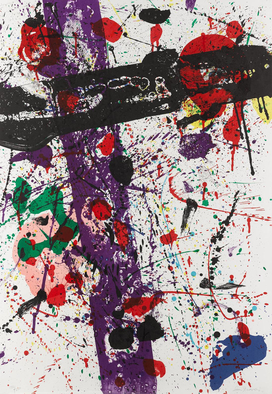 Sam Francis-Untitled; From Eight By Eight To Celebrate The Temporary Contemporary (L. L263)-1984