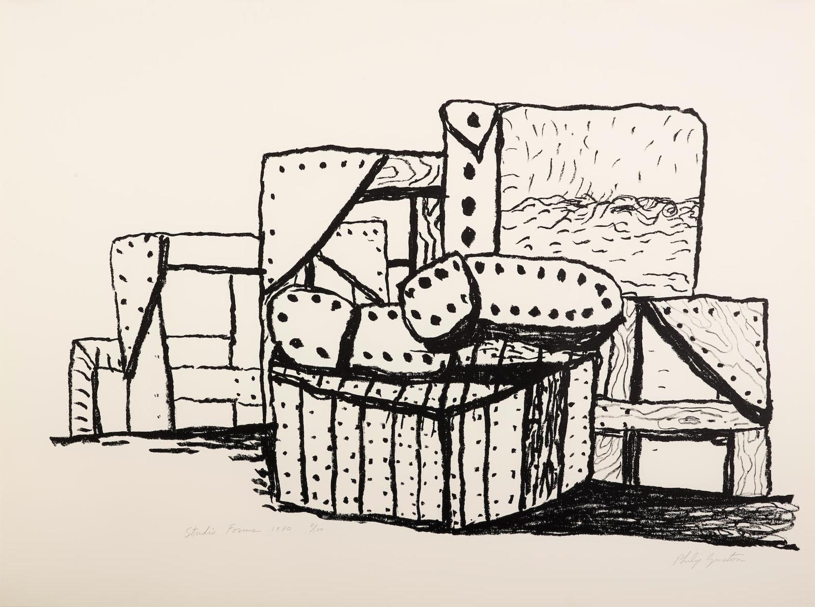 Philip Guston-Studio Forms (G. 877)-1980